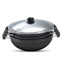 Prestige Hard Anodised Kadai 3 Pic set with Common Lid
